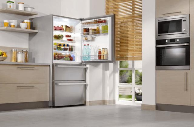 household appliances in kitchen